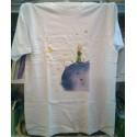 El principito camiseta planeta azul S