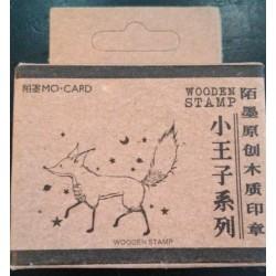 Principito sello madera zorro