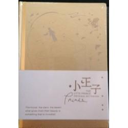 Cuaderno de notas dorado El Principito tapa dura